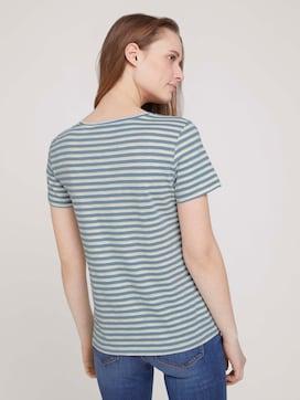 gestreept t-shirt met biologisch katoen  - 2 - TOM TAILOR Denim