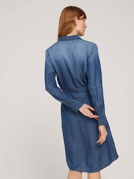 jeans blouse dress with a tie belt - 2 - TOM TAILOR