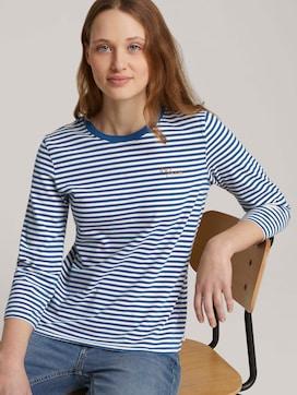 Gestreept overhemd met biologisch katoen  - 5 - TOM TAILOR Denim