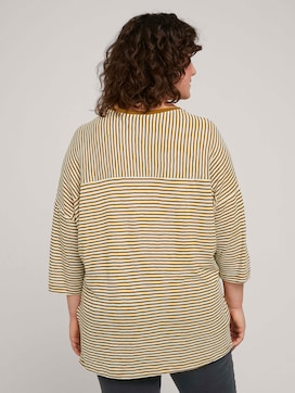 Loose shirt with stripes made with organic cotton   - 2 - My True Me