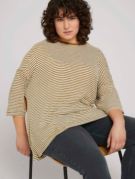 Loose shirt with stripes made with organic cotton   - 5 - My True Me
