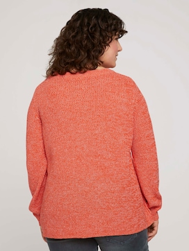 Mottled knitted sweater made with organic cotton   - 2 - My True Me