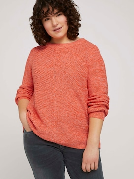 Mottled knitted sweater made with organic cotton   - 5 - My True Me