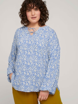 Tunic blouse with a floral print - 5 - My True Me