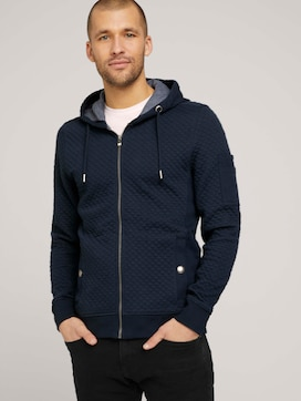 sportive hoodie sweatjacket - 5 - TOM TAILOR