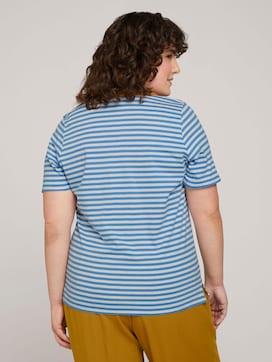 Gestreiftes T-Shirt mit Bio-Baumwolle  - 2 - My True Me