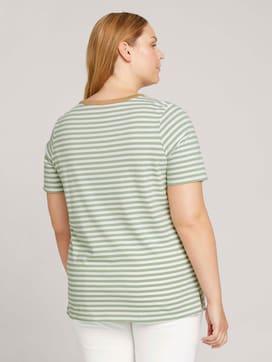 Curvy - Gestreiftes T-Shirt mit Bio-Baumwolle - 2 - My True Me