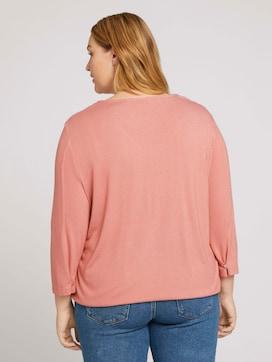 3/4-sleeved shirt with an elastic waistband - 2 - My True Me