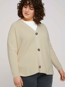 Cardigan with side slits made with organic cotton   - 5 - My True Me