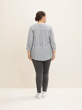 Striped Henley blouse - 2 - My True Me