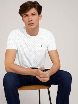 gemustertes T-Shirt mit Bio-Baumwolle  - 5 - TOM TAILOR