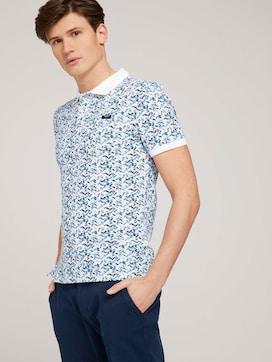 gemustertes Poloshirt mit Bio-Baumwolle  - 5 - TOM TAILOR