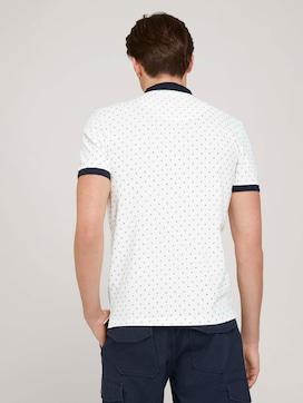 gemustertes Poloshirt mit Bio-Baumwolle  - 2 - TOM TAILOR