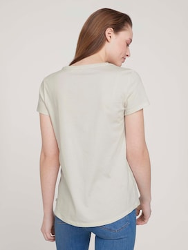 t-shirt with embroidery made with organic cotton   - 2 - TOM TAILOR Denim