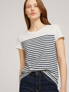 Gestreiftes T-Shirt mit Bio-Baumwolle - 5 - TOM TAILOR Denim