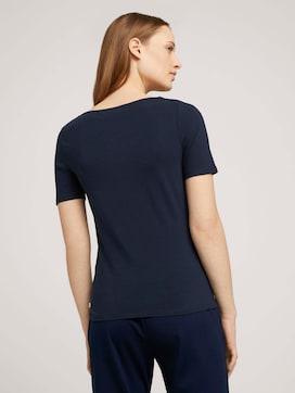 Basic T-shirt met biologisch katoen  - 2 - TOM TAILOR Denim