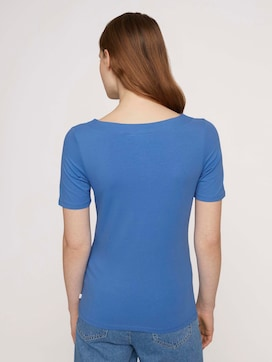 Basic T-shirt met boothals - 2 - TOM TAILOR Denim