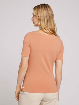 Basic t-shirt with a submarine neckline - 2 - TOM TAILOR Denim