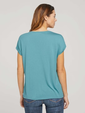 Fließendes Basic T-Shirt - 2 - TOM TAILOR Denim