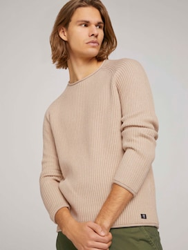 rib structured crewneck made with organic cotton   - 5 - TOM TAILOR Denim