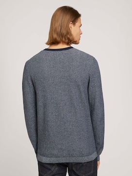 all over structured crew neck made with organic cotton   - 2 - TOM TAILOR Denim