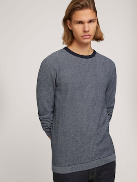 all over structured crew neck made with organic cotton   - 5 - TOM TAILOR Denim