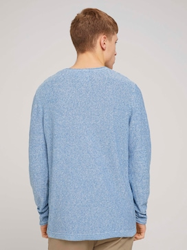 mouliné crewneck knit made with organic cotton   - 2 - TOM TAILOR Denim