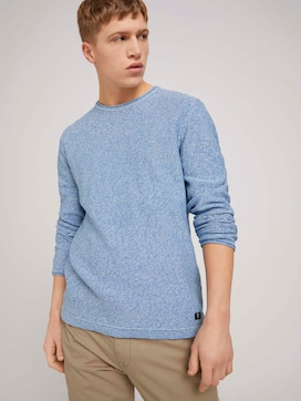 mouliné crewneck knit made with organic cotton   - 5 - TOM TAILOR Denim