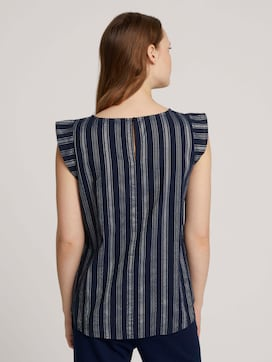 Striped blouse made with organic cotton  - 2 - TOM TAILOR Denim