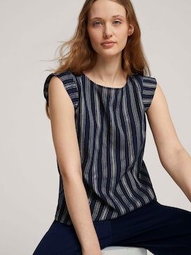 Striped blouse made with organic cotton  - 5 - TOM TAILOR Denim