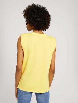 Ärmelloses Shirt mit Bio-Baumwolle - 2 - Mine to five