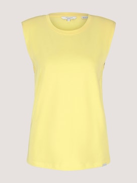 Sleeveless shirt with shoulder pads - 7 - Mine to five