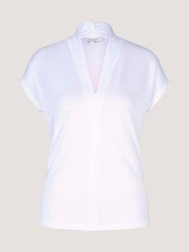 Lyocell T-Shirt mit V-Ausschnitt - 7 - Mine to five