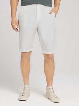 Josh Chino linnen bermuda shorts - 1 - TOM TAILOR