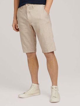 Josh chino linen bermuda shorts - 1 - TOM TAILOR