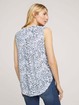 Ärmellose Bluse mit Blumenmuster - 2 - TOM TAILOR