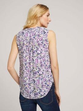 Ärmellose Bluse mit LENZING(TM) ECOVERO(TM) im Blumenmuster - 2 - TOM TAILOR