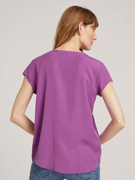 Short-sleeved blouse made of Lyocell - 2 - TOM TAILOR
