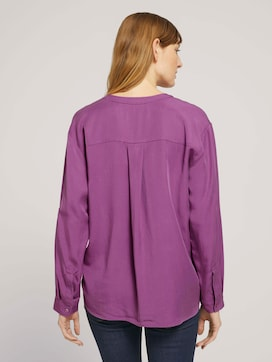 Lyocell blouse with chest pockets - 2 - TOM TAILOR