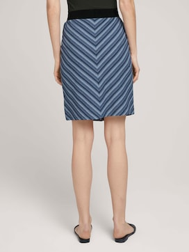 Striped jersey skirt with organic cotton - 2 - TOM TAILOR