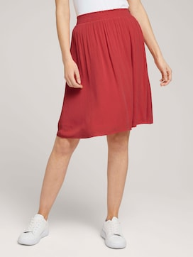 Flowing skirt with an elastic waistband - 1 - TOM TAILOR
