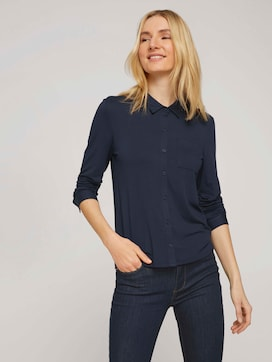 shirt blouse made of jersey - 5 - TOM TAILOR
