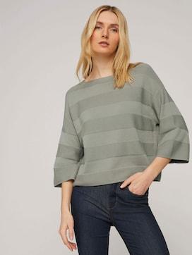 Pullover mit Streifenstruktur - 5 - TOM TAILOR