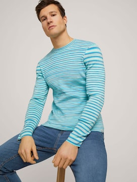 sweatshirt in a melange look - 5 - TOM TAILOR