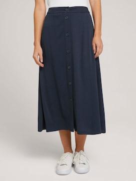 Midi skirt with a button tab - 1 - TOM TAILOR Denim