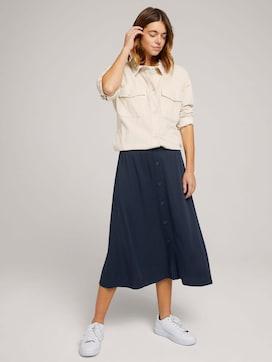 Midi skirt with a button tab - 3 - TOM TAILOR Denim