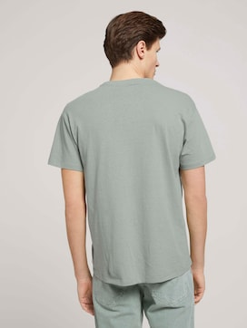 T-Shirt aus Leinenmix - 2 - TOM TAILOR Denim