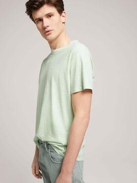 T-shirt van linnenmix - 5 - TOM TAILOR Denim