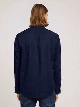Stehkragenhemd mit Leinen - 2 - TOM TAILOR Denim