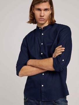 Stehkragenhemd mit Leinen - 5 - TOM TAILOR Denim